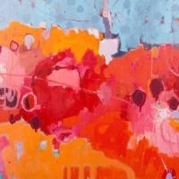 Kate Gorman_Blossoms - 2016 Acrylic on Linen 102x152