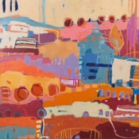 Kate Gorman_Dreaming - 2016 Acrylic on Linen 101x101
