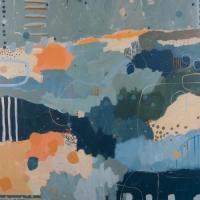 Kate Gorman_Into the Deep_2017_Acrylic on Linen_102x102cm