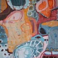 'Portuguese Milk Jugs' 2015 acrylic on canvas  76cm x 76cm-min
