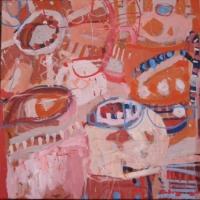 'Treasures from Stresa' 2015 acrylic on canvas 50cm x 50cm-min