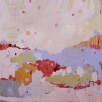 Kate Gorman_Harmonious_2017_Acrylic on Linen_77x77cm