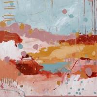 Kate Gorman_Waterhole Escape_2017_Acrylic on Linen_77x77cm