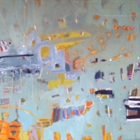 A Day on the Harbour 2014 acrylic on canvas 101cm x 101cm