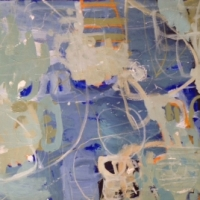 Along the Waterfront 2014 acrylic on linen 101cm x 61cm