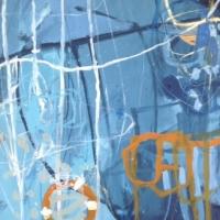 Beneath the Surface 2014 acrylic on linen 76cm x 56cm
