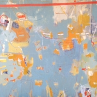 Sunken Treasure 2014 acrylic on canvas 90cm x 120cm