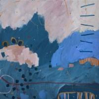 Kate-Gorman-Pink-sky-haze-2019-Acrylic-on-linen-50x50