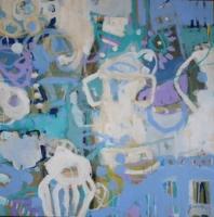 'White Vessels, Venasque' 2015 acrylic on canvas 76cm x 76 cm-min
