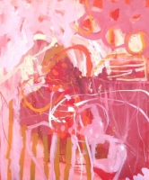 Rockpool 2014 acrylic on linen 66cm x 56cm