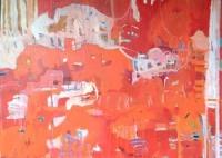 The Reef 2014 acrylic on canvas 122cm x 166cm